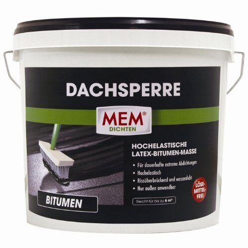 MEM Dachsperre 12 Liter 500420    Kunststoff-Bitumen-Masse    Abdichtung