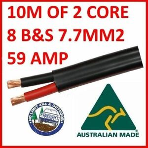 10m-METER-8mm-8-B-amp-S-TWIN-CORE-DOUBLE-INSULATED-CABLE-COPPER-12V-WIRE-DC-DC