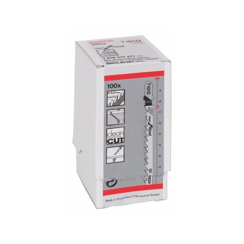 Bosch Stichsägeblatt Clean for Wood T 101 D 100er 2608637877