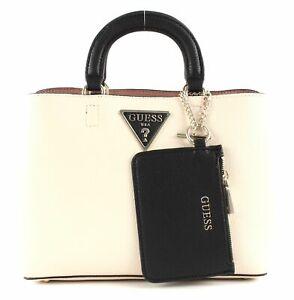 Details about GUESS Aretha Girlfriend Satchel Handbag Bag Stone Multi Beige New show original title