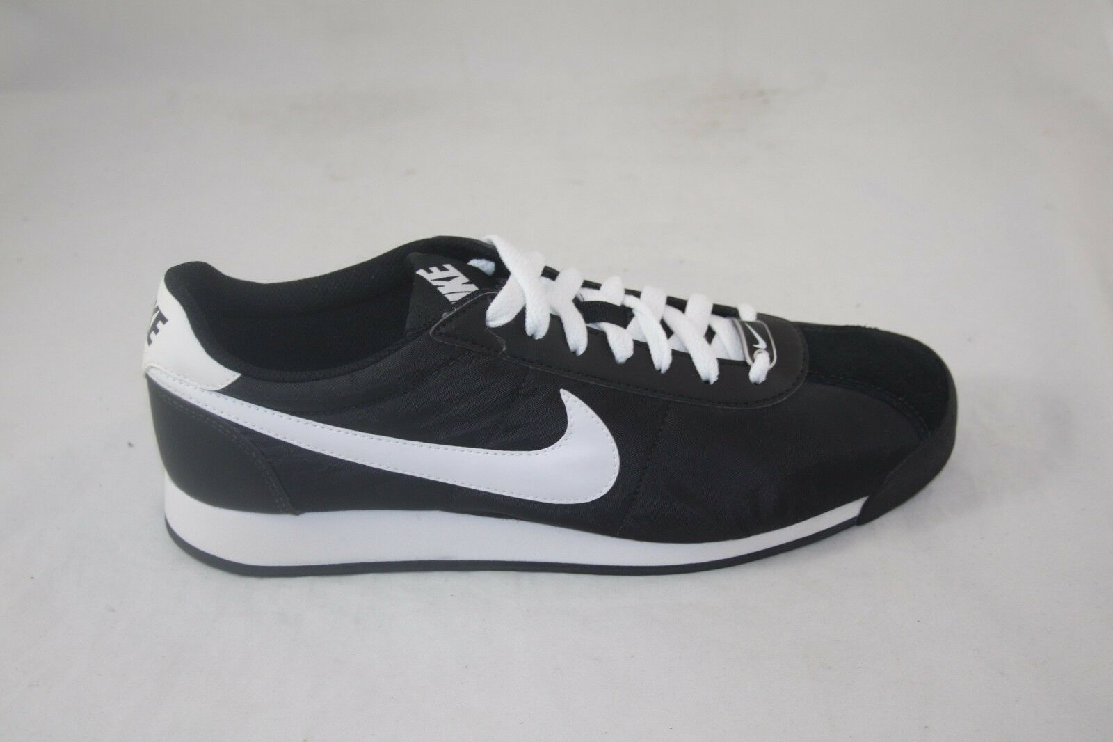 MEN'S NIKE MARQUEE TXT 580536-010 BLACK/WHITE SAIL NYLON LIGHT WEIGHT SNEAKER