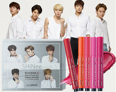 The Saem SHINee Eco Soul Kiss Button Lips SHINee Edition + SHINee Mask 2sheets