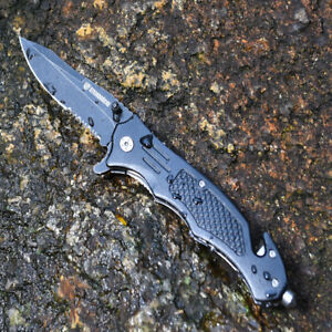 Pocket-knives-RESCUE-BLACK-TACTICAL-Spring-Assisted-Opening-Folding