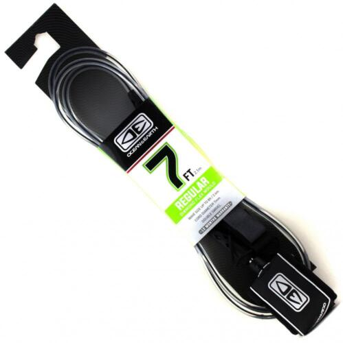 Surfboard Leg Rope In Clear With Black From Ocean /& Earth Regular 7/' Leash