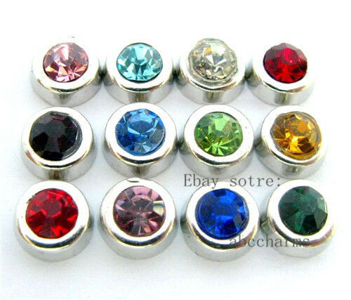 LOT 12pcs Birthstone set floating charms for living locket free shipping FC181