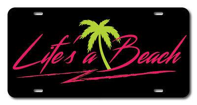 "Black License Plate Frame /""Life/'s A Beach/"" Auto Accessory Novelty"