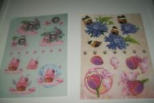 2X 3D SHEETS DIE CUT NO SCISSORS NEED (A25) NEW 30X21 CM