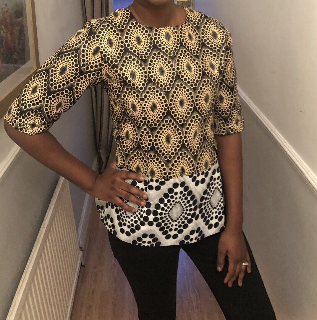 Smart African Print Top. Colourful & Elegant Ankara Top