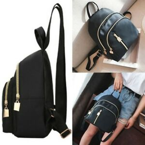 372954ad15a Details about Women Ladies Small Fashion School Backpack Travel Shoulder  Bag Rucksack Black