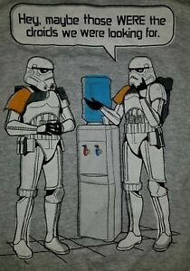 7fb7c2f9 SMALL Star Wars Stormtroopers Water Cooler T-shirt: NWT Droids Funny ...