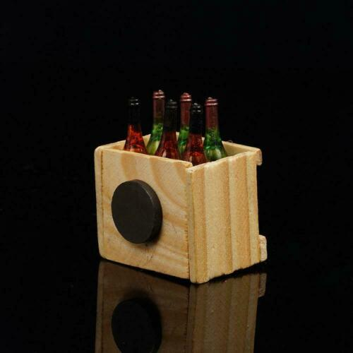 Doll House Accessories Mini 6 wine bottles with-wooden-frame/' C6C8