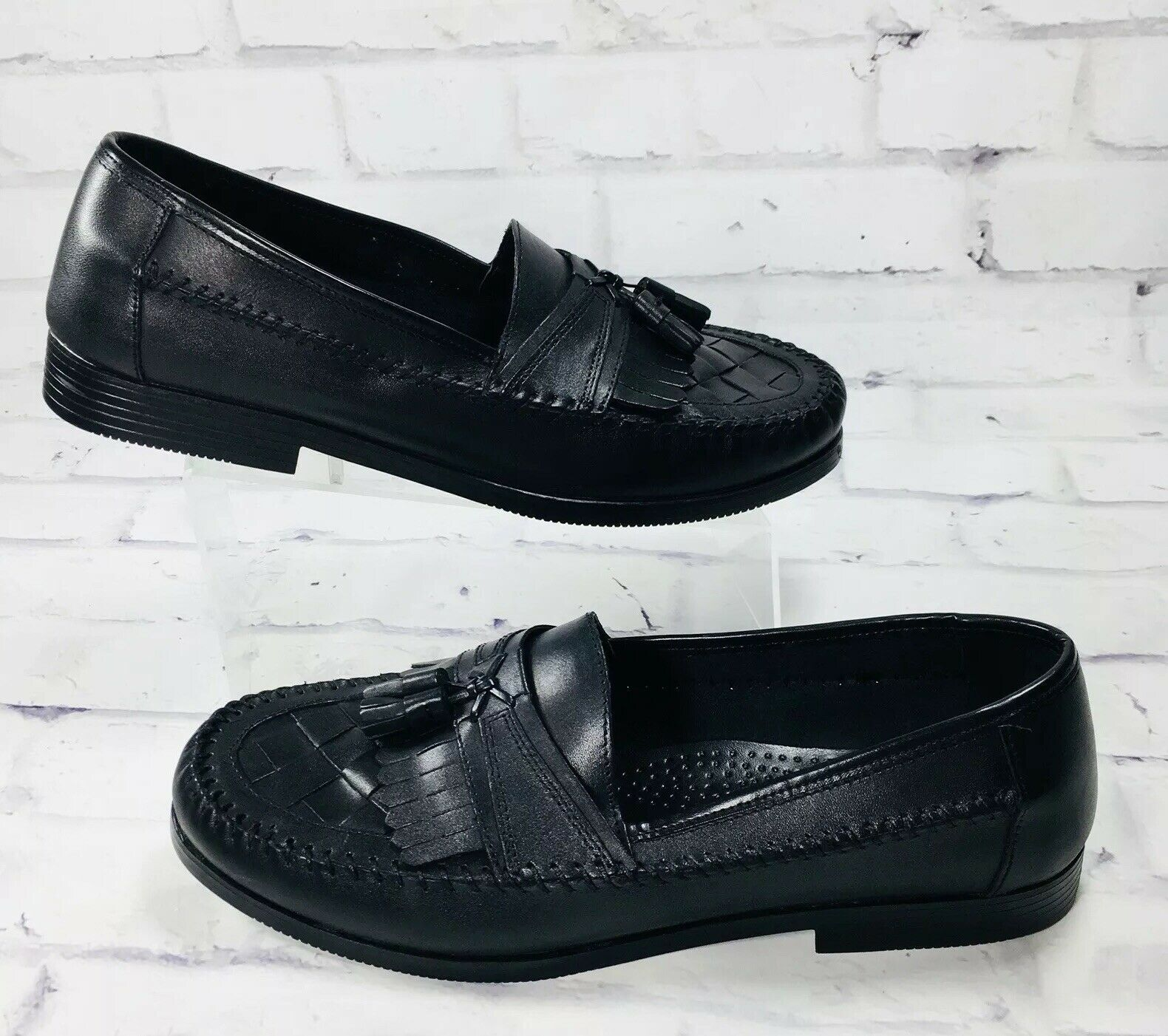 d4ec9797d181 Giorgio Brutini shoes Men s Size Size Size 13 M Soft Leather Loafer Black  Tassels 35f3a7 ...