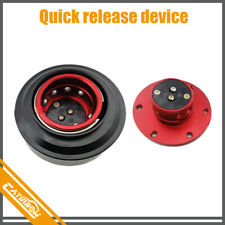 Universal Aluminum Quick Release Kit For 6 Hole Steering Wheel Hub Adapter Red