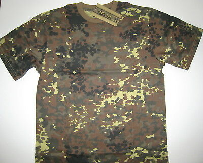 T-shirt Bundeswehr Flecktarn *neu* 100% Baumwolle
