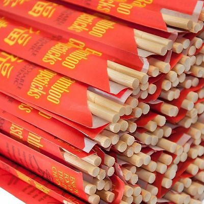 "Kari-Out Chopsticks Bamboo 9/"" Individually Wrapped 5-100 Pair Free Ship US Only"