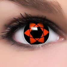 "Coloured Contact Lenses ""Sharingan Uchiha Sasuke"" Contacts Anime  +  Free Case"