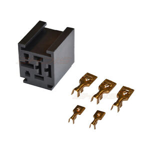 80A Relay Connector 5 Pin Relay Socket with 5 Terminal Harness Car