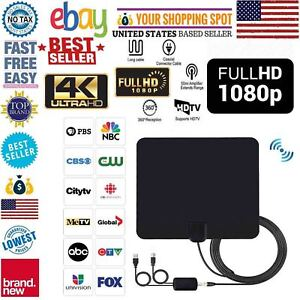 Antenna-TV-Digital-HD-200-Mile-Range-Skywire-TV-Indoor-1080P-4K-16ft-Coax-Cable