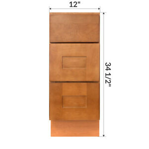 12 Bathroom Vanity Drawer Base Cabinet Maple Newport By Lesscare 816124022862 Ebay