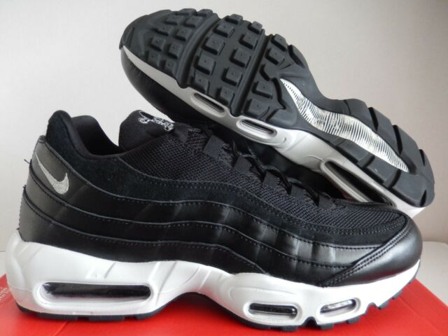 newest c45d1 7218e Nike Air Max 95 PRM Premium Mens Size 11 Skulls Shoes Black Chrome 538416  008