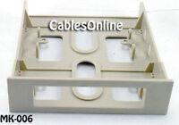 3.5 Device Bracket For 5.25 Bay, Biege Plastic Mk-006