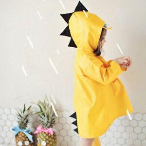 best online retailer exclusive deals Details about Cute Dinosaur Shaped Rain Coat Kids Boys Girls Waterproof  Hooded Jacket Raincoat