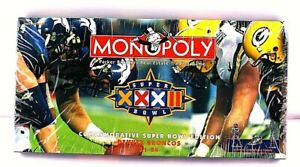 Rare-Vintage-Monopoly-Superbowl-XXXII-Edition-Board-game-Parker-Brothers-Sealed