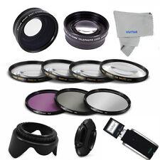 58MM 3 LENSES+ Filter Set + Accessories for CANON EOS REBEL T3 T4 T5 T3I T4I 5D