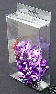 "50 PCS 3x1x5"" Clear Plastic PVC Folding Box W/ Hang Hole Retail Display Packing"