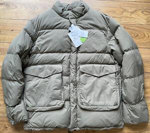 Snow Peak Recycled NY Ripstop Down Jacket Beige BNWT XL Oi Polloi LG