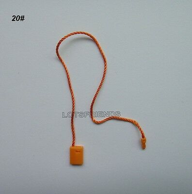 Wholesale 1000p Hang Tag String plastic Snap Lock Pin Loop Fastener Hook Ties 7""