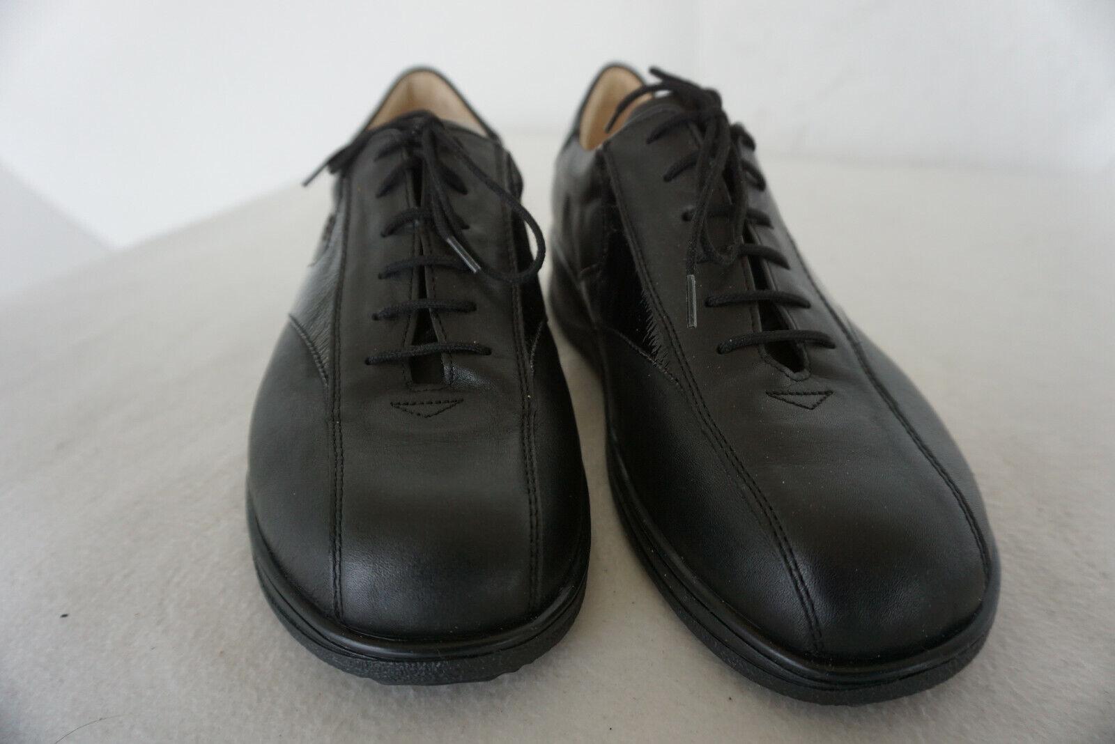 FINN COMFORT Schnürschuhe NEU Leder 38,5 Gr.5,5 schwarz