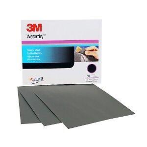 2036-50 sheets per sleeve 3M Wetordry Sheet P600 Grit 9 x 11 inch 02036