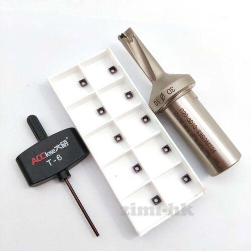 10PCS SOMT040202DP ZM1025 ΦSO-10-33-3D-C20 U Drill 10mm-3D indexable drill