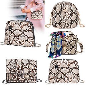 Snake-Print-Shoulder-Bag-Women-Messenger-Handbag-PU-Leather-Crossbody-Purse-Tote