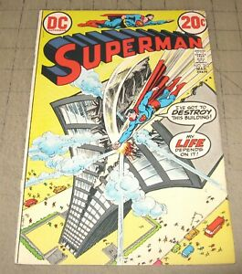 SUPERMAN-262-Mar-1973-FN-Condition-Comic-Skyscraper-that-Screamed