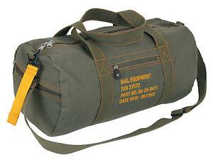 Image is loading Military-Style-Canvas-Flight-Bag-Vintage-Equipment-Pack- dd965b8eaba