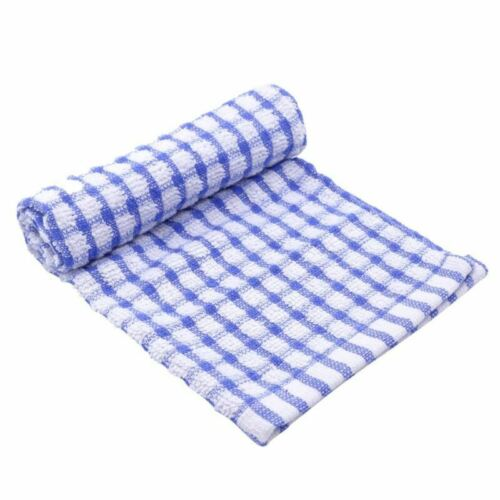 Tea Towels Pack Set Terry Cotton Kitchen Dish Cloths Large Cleaning Check
