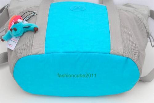 Grey and Blue Gntlgrecom New With Tag KIPLING ALLENA Tote Shoulder Gym Bag