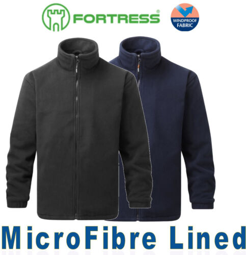 Men's WINTER FLEECE Cold Weather JACKET Top Microfibre LINED Heavy Weight 300gsm