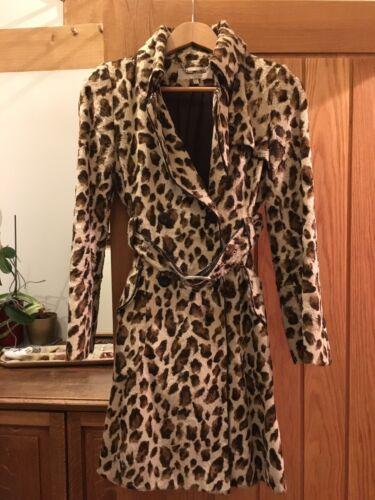 Brown finto pelliccia 8 Authentic Cream Karen Trench in coat uk Millen leopardo tqZwnvROxS