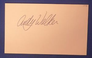 ANDY-WALKER-signed-autograph-3x5-New-Orleans-Jazz-1976-77