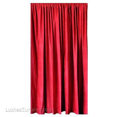 Red 96 Quot H Velvet Curtain Panel Thermal Drape Home Movie