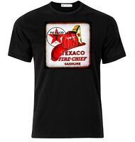 Texaco Fire Chief - Graphic Cotton T Shirt Short & Long Sleeve