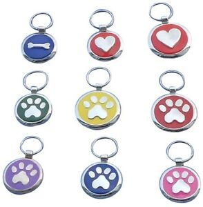 Premium-Engraved-Pet-Tags-DOG-ID-Disc-Disk-25-amp-32mm-High-Quality-Puppy-Cat-Kitten