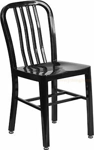 MID-CENTURY-BLACK-039-NAVY-039-STYLE-DINING-CHAIR-CAFE-RESTAURANT-IN-OUTDOOR-500-LBS