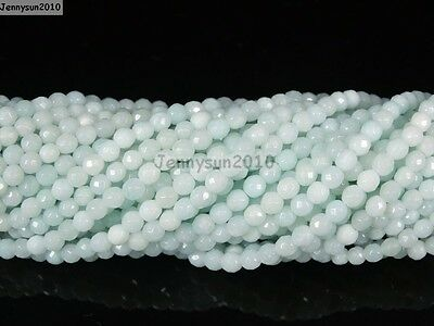 Natural Gemstones 2mm 3mm Faceted Round Spacer Seed Beads 15.5'' Jewelry Design