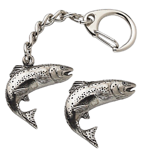 Salmon-Fish-Key-ring-And-Pin-Badge-Boxed-Gift-Set-Handcrafted-In-Pewter