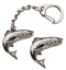 Salmon-Fish-Key-ring-And-Pin-Badge-Boxed-Gift-Set-Handcrafted-In-Pewter thumbnail 1
