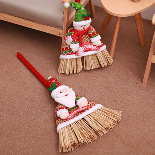 1X Weihnachten Besen Abdeckung Reinigungswerkzeug Dekor Tuch Langlebig Cartoon